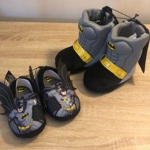 Bundle of Batman slippers toddler size 7/8